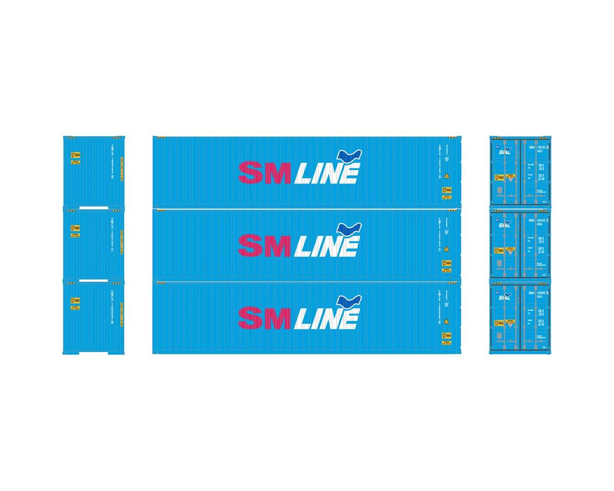 Athearn HO RTR 40' Hi-Cube Containers,  SM Line (3)