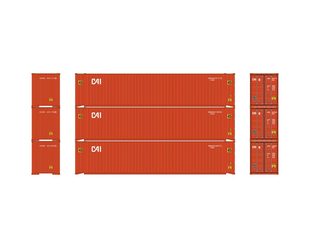 Athearn HO RTR 45' Container, CAI (3)