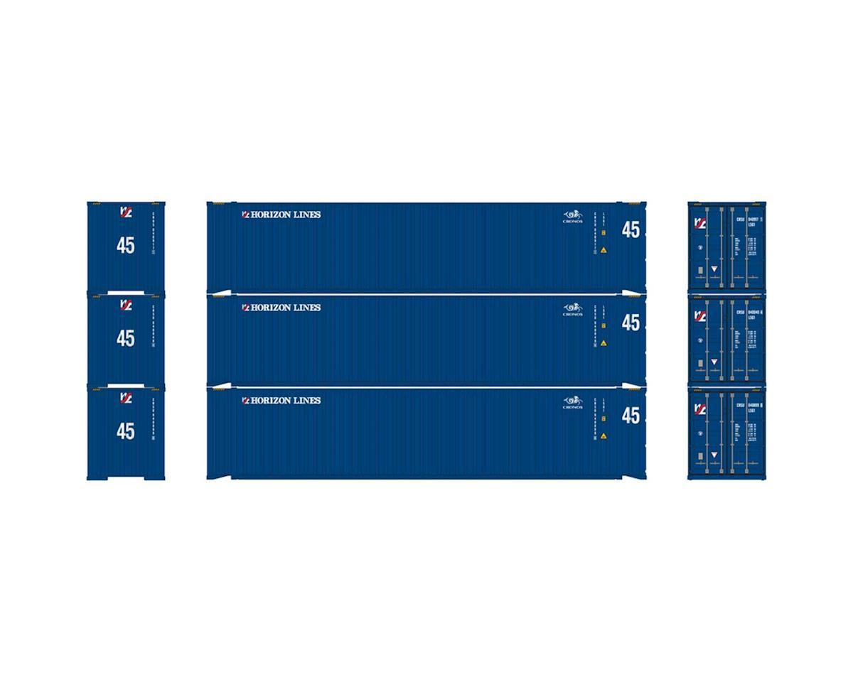 Athearn HO RTR 45' Container, Horizon Lines/Cronos (3)