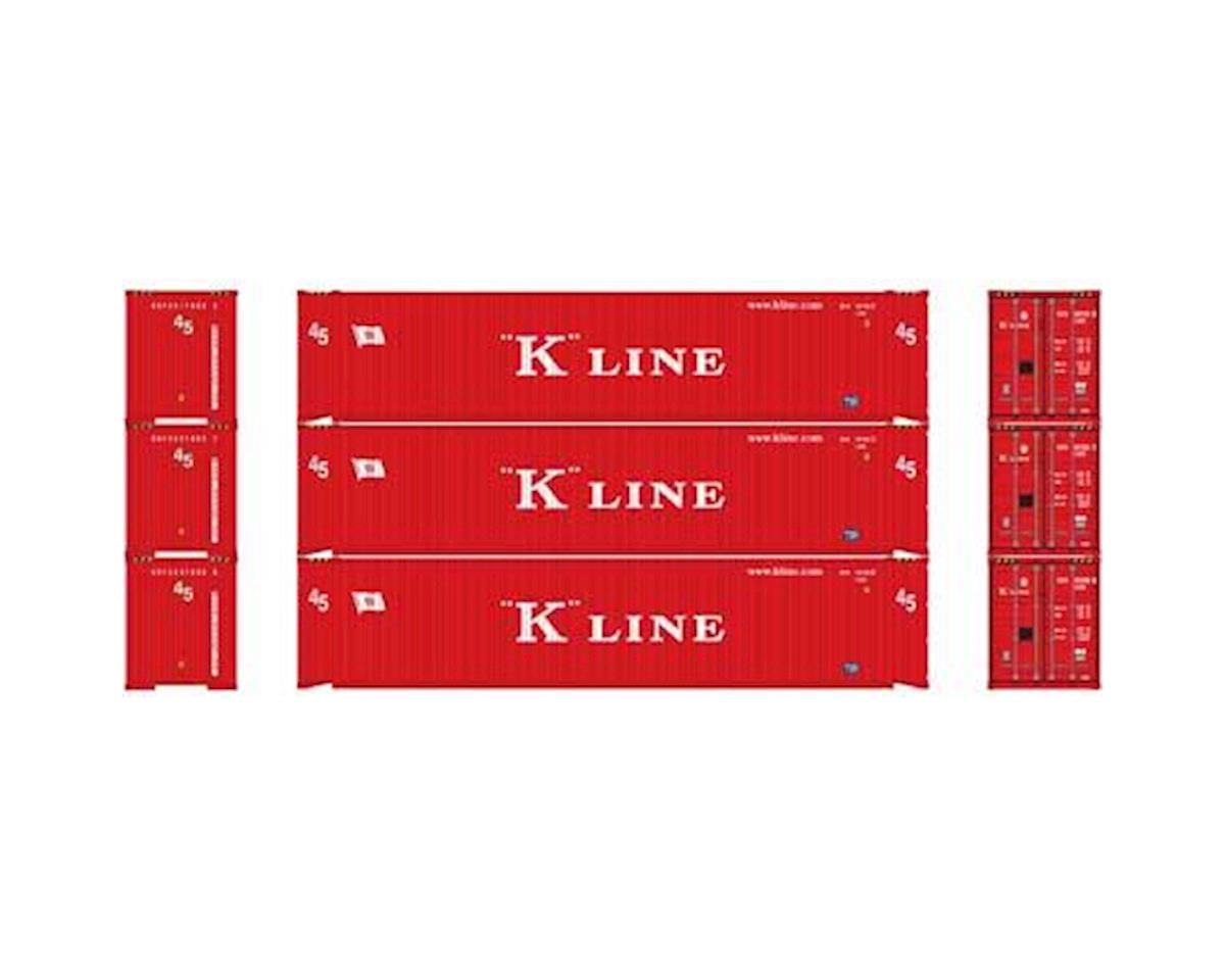Athearn HO RTR 45' Container, K-Line (3)