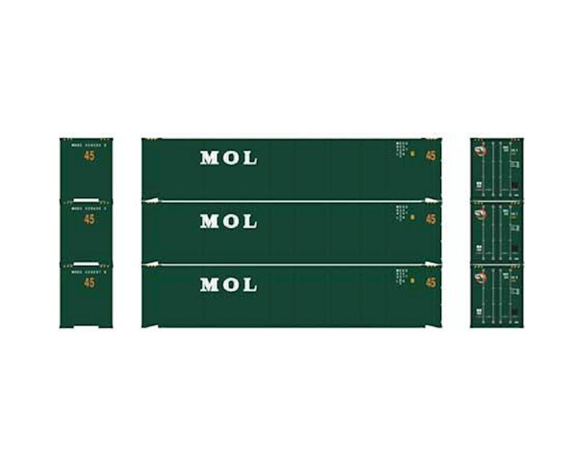 Athearn HO RTR 45' Container, MOL (3)