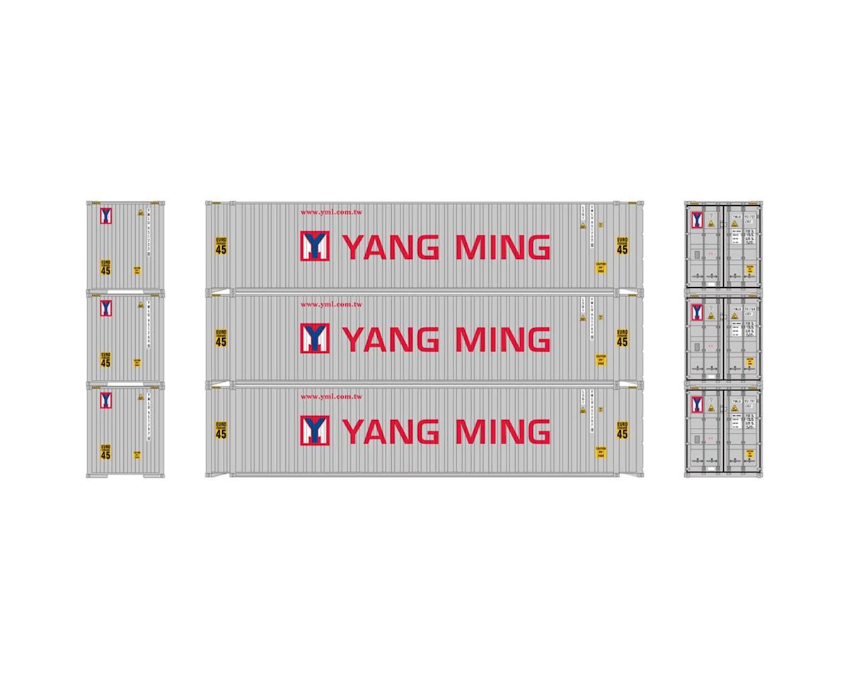 Athearn HO RTR 45' Container, Yang Ming (3)