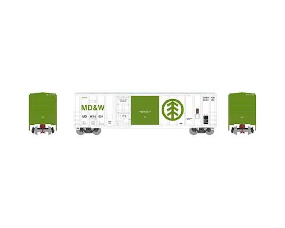 Athearn N 50' FMC Combo Door Box, MD&W #10001