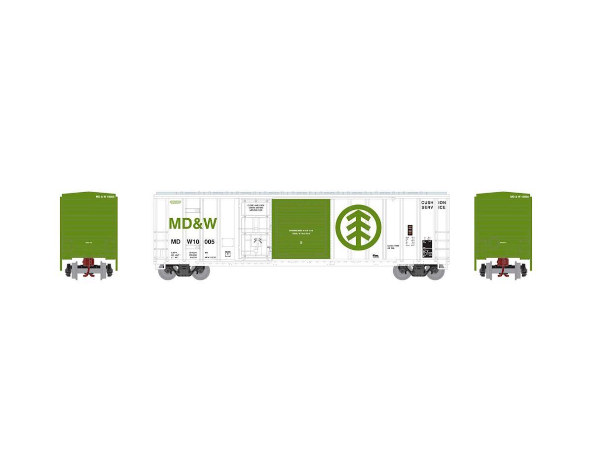 Athearn N 50' FMC Combo Door Box, MD&W #10005