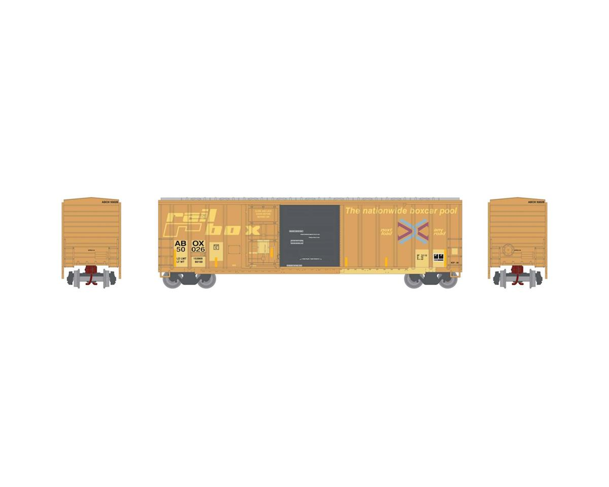 Athearn N 50' FMC Combo Door Box, Rail Box #50026