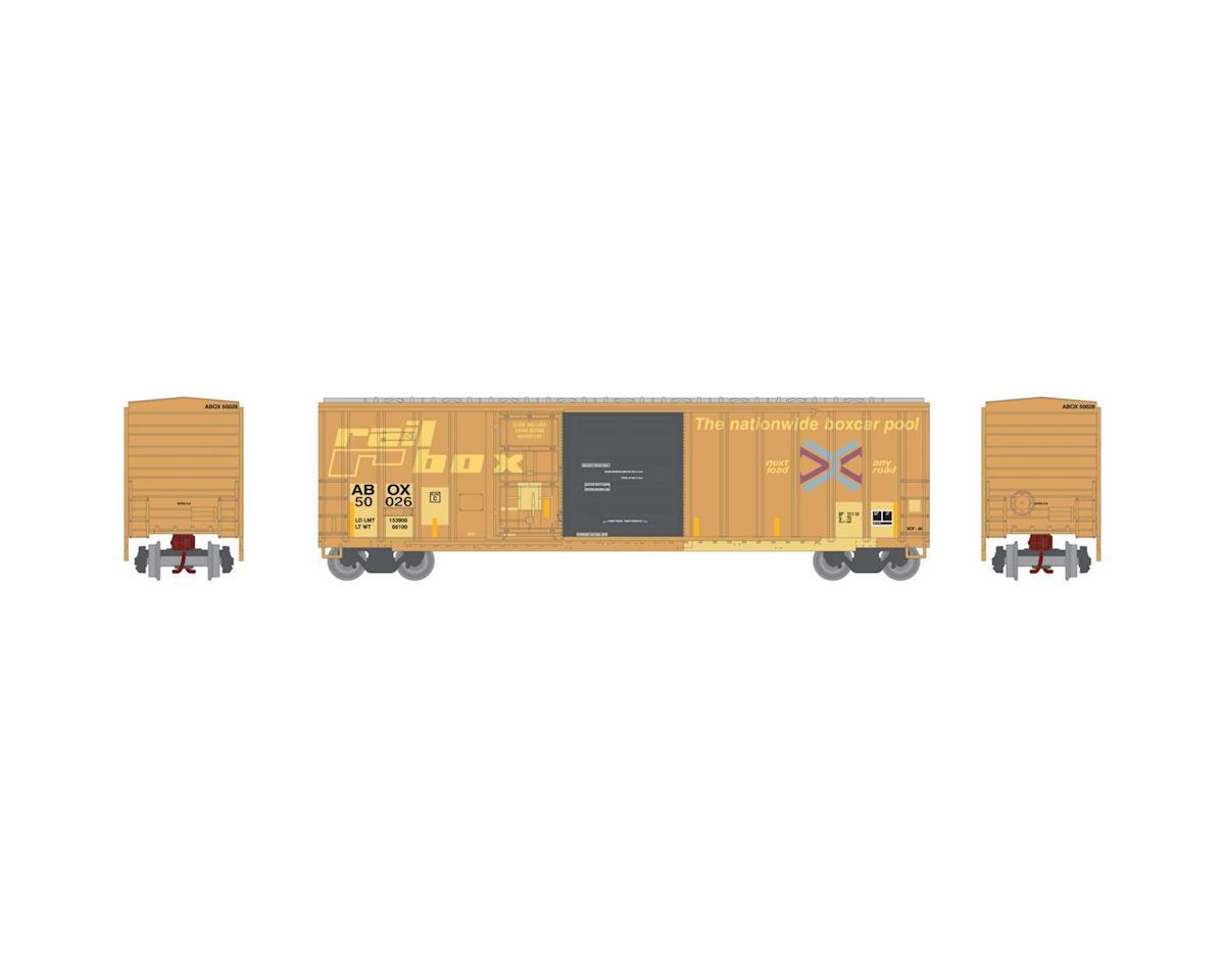 Athearn N 50' FMC Combo Door Box, Rail Box #50026