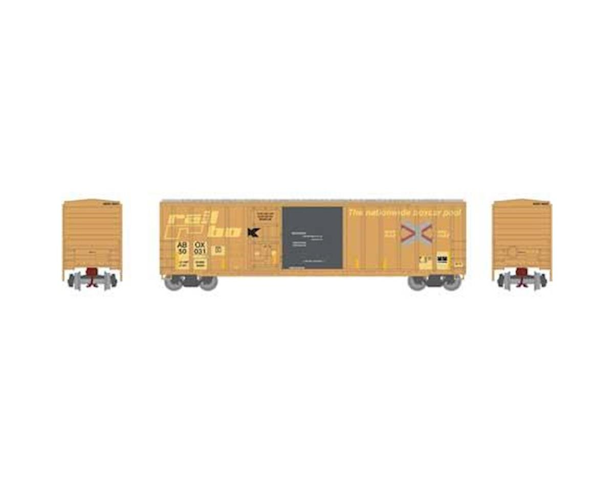 Athearn N 50' FMC Combo Door Box, Rail Box #50031