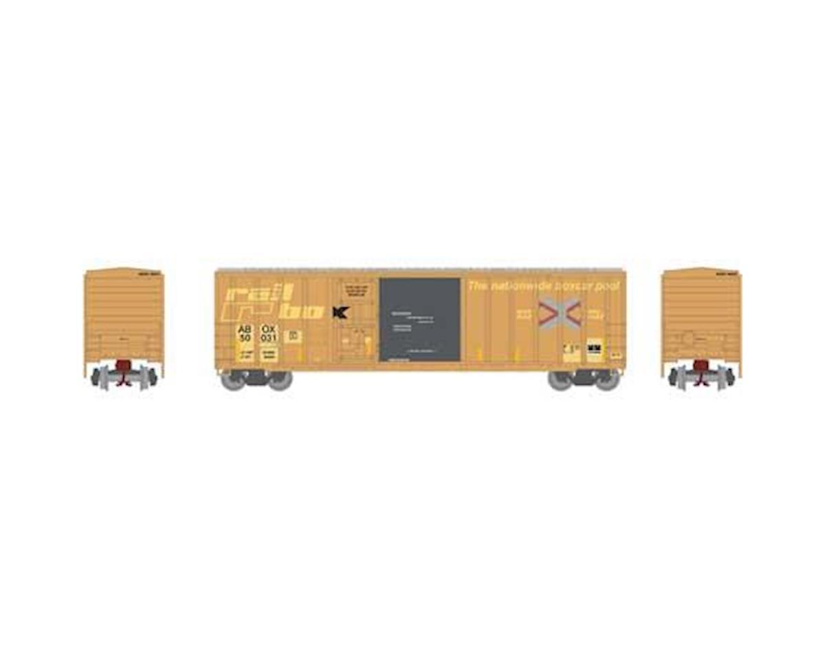 Athearn N 50' FMC Combo Door Box, Rail Box #50031