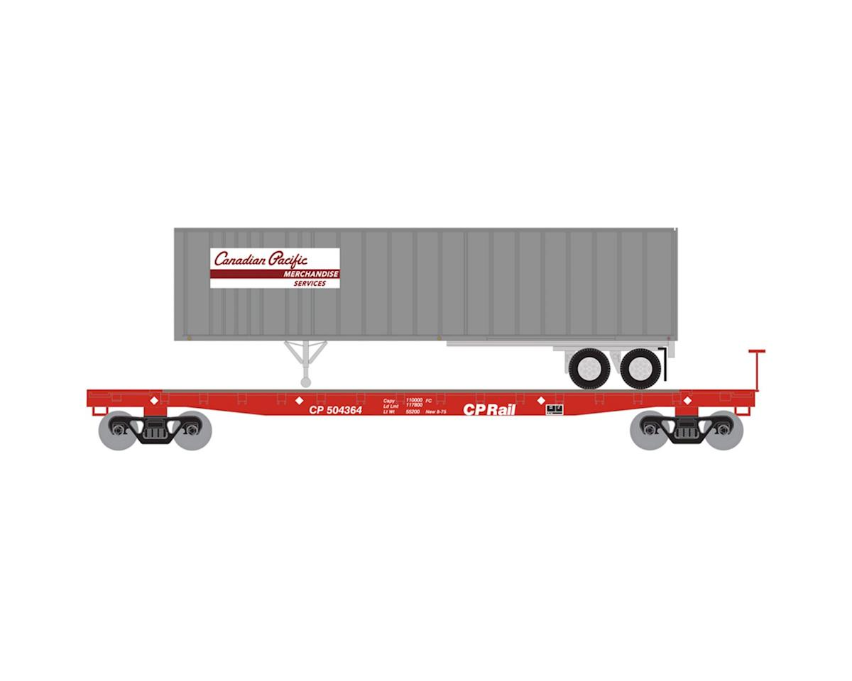 Athearn N 53' GSC TOFC Flat w/40' Ex-Post Trailer, CPR #1