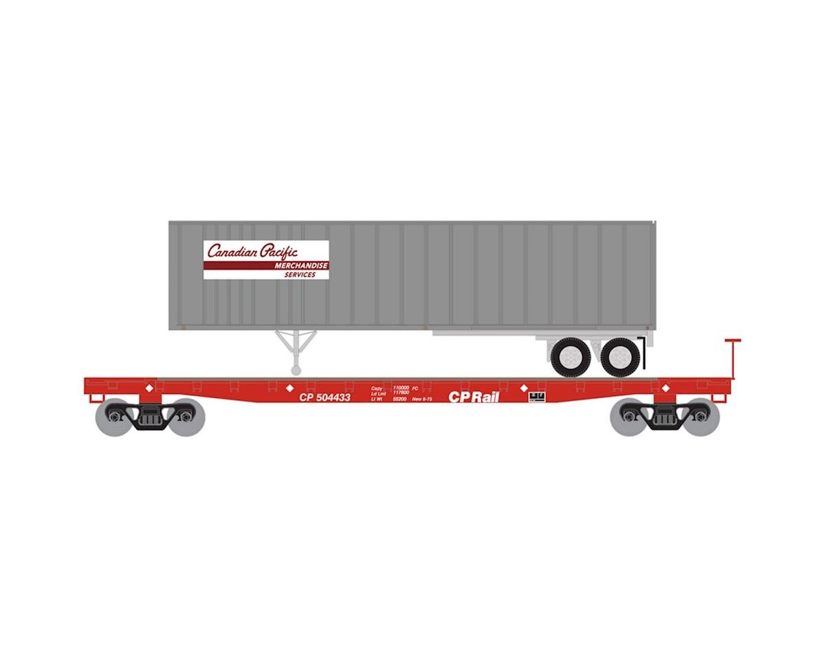 Athearn N 53' GSC TOFC Flat w/40' Ex-Post Trailer, CPR #3