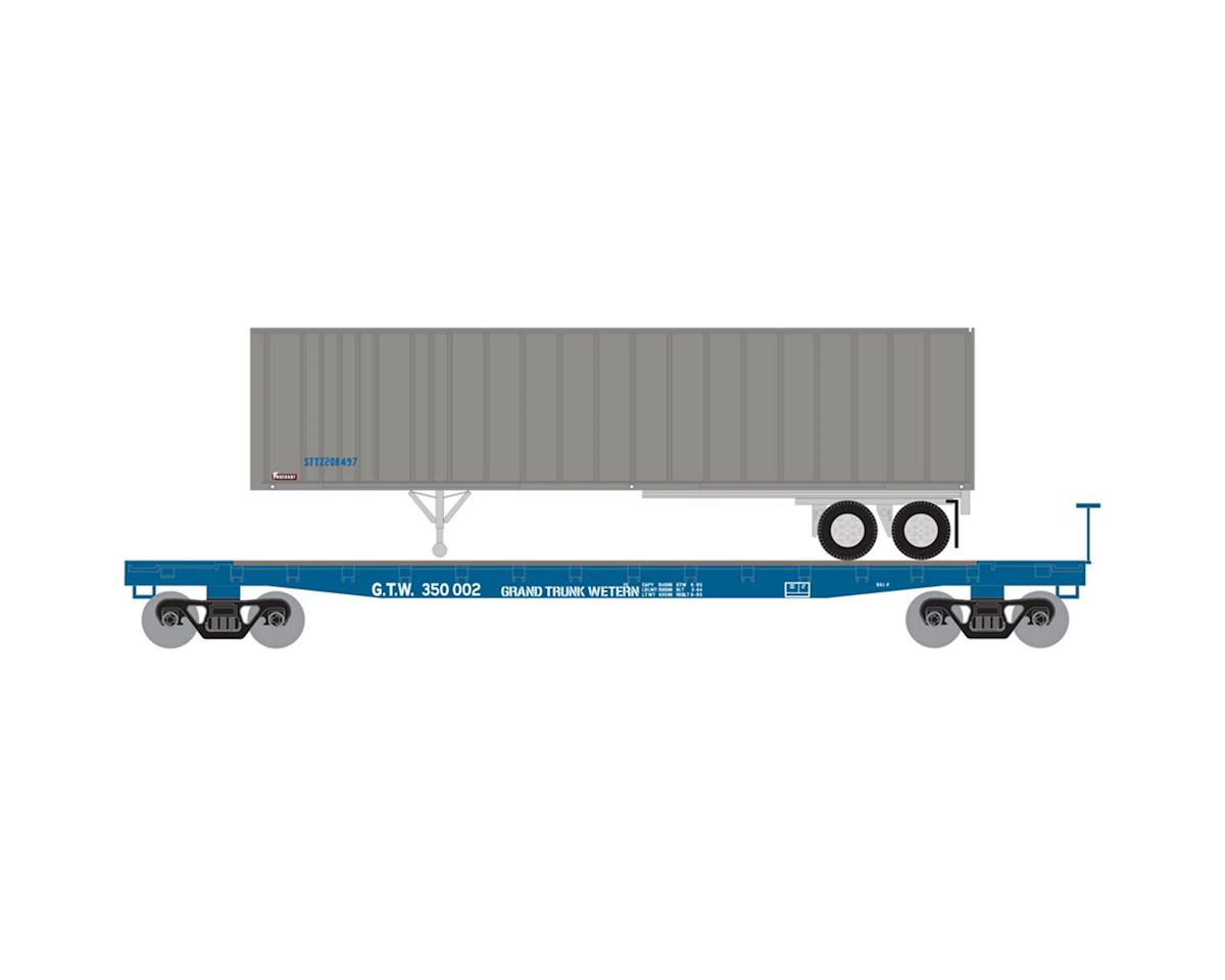 N 53' GSC TOFC Flat w/40' Ex-Post Trailer, GTW #1 by Athearn