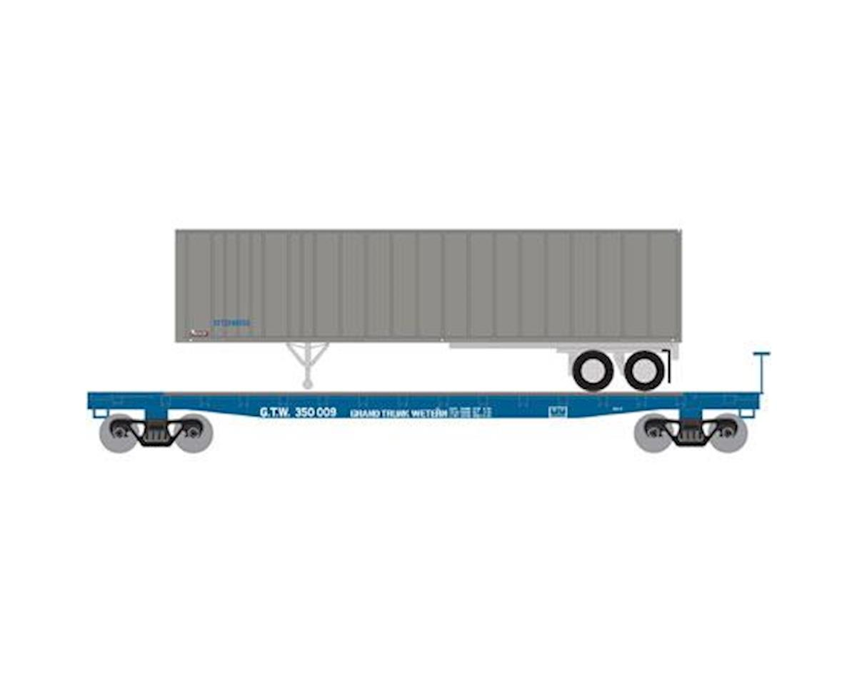 Athearn N 53' GSC TOFC Flat w/40' Ex-Post Trailer, GTW #2