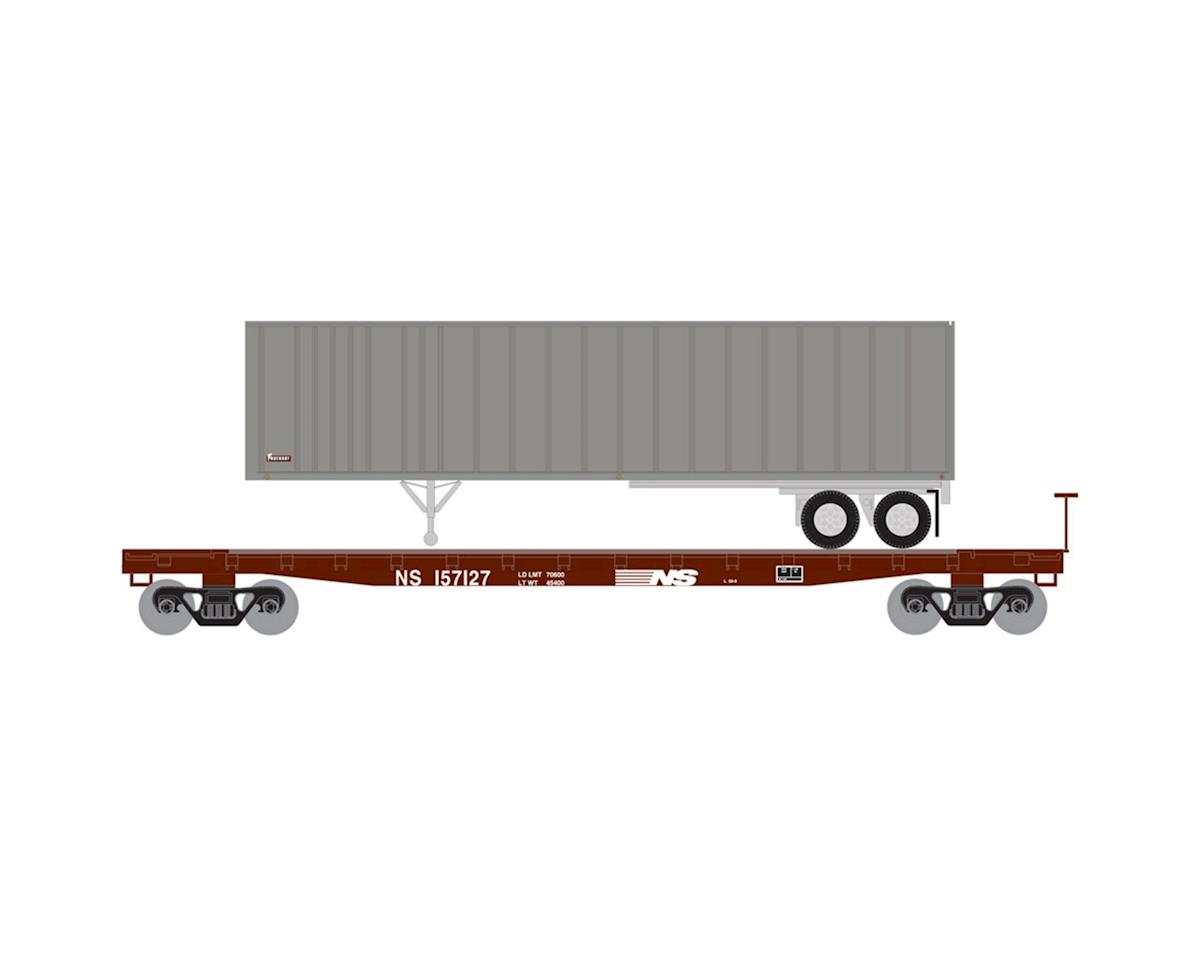 Athearn N 53' GSC TOFC Flat w/40' Ex-Post Trailer, NS #2
