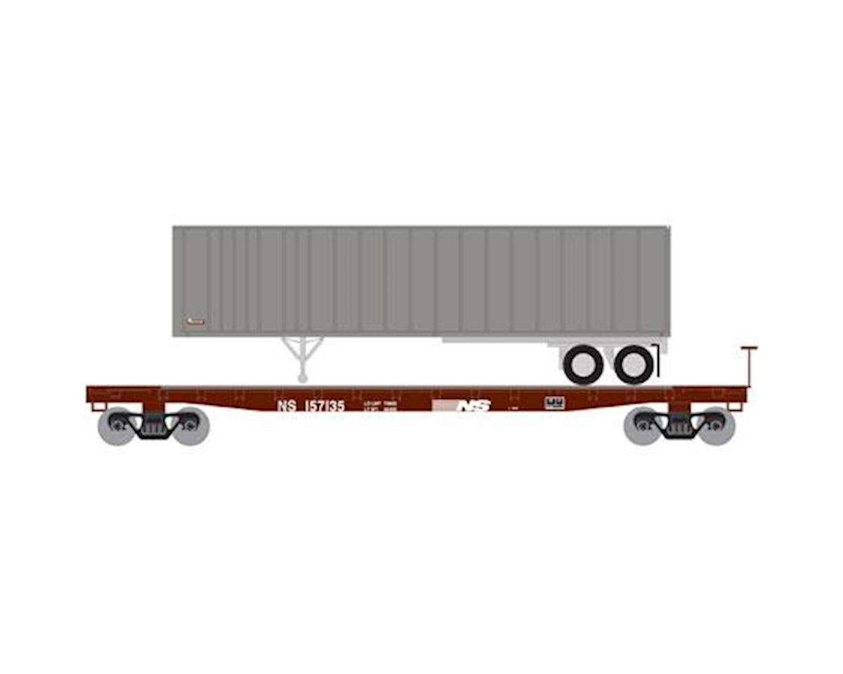 Athearn N 53' GSC TOFC Flat w/40' Ex-Post Trailer, NS #3