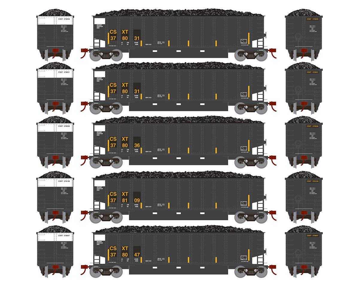 N Bethgon Coalporter w/Load, CSX #1 (5) by Athearn