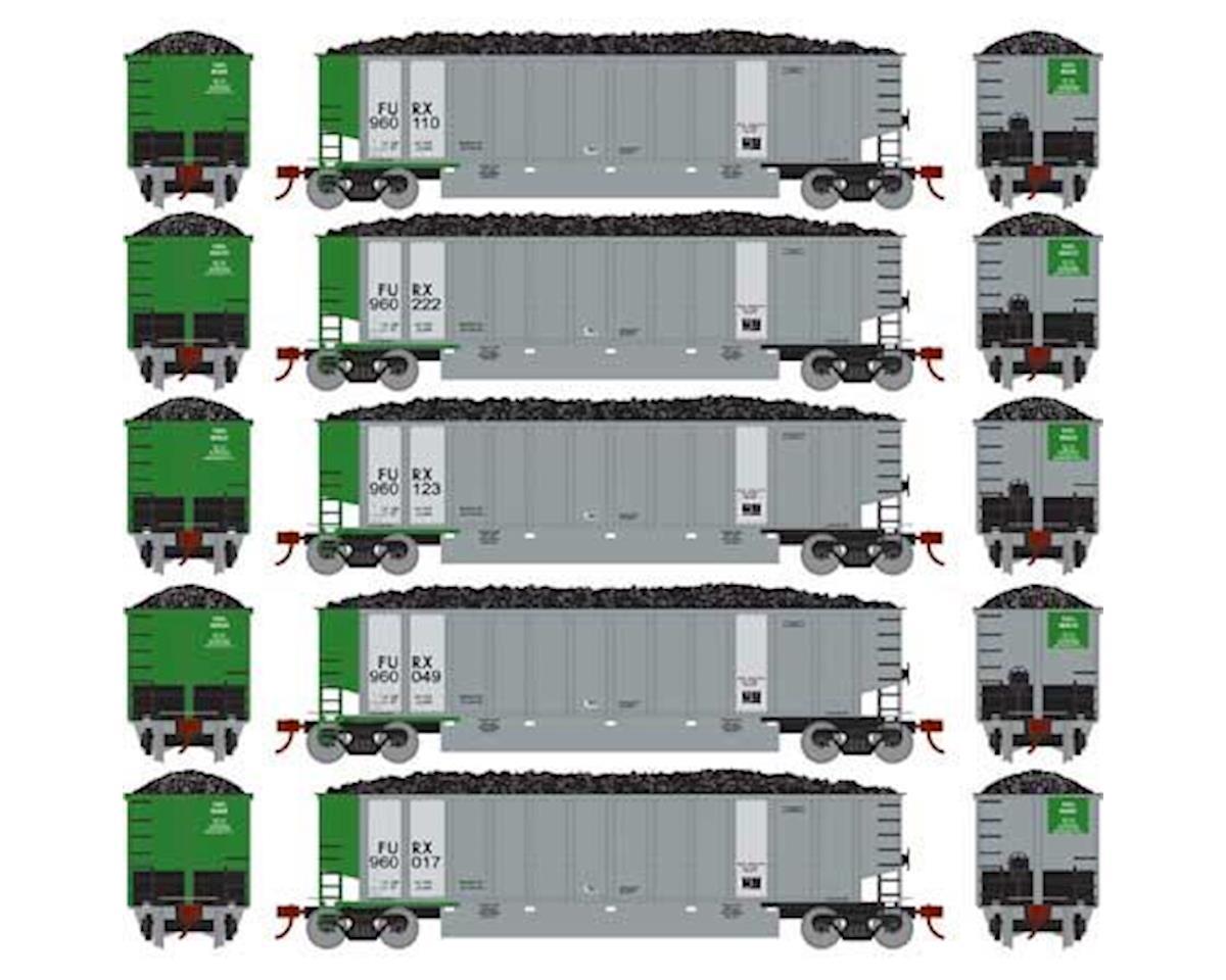 Athearn N Bethgon Coalporter w/Load, FURX #1 (5)