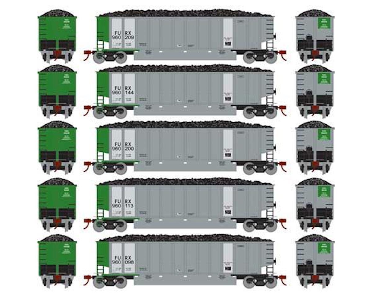Athearn N Bethgon Coalporter w/Load, FURX #2 (5)