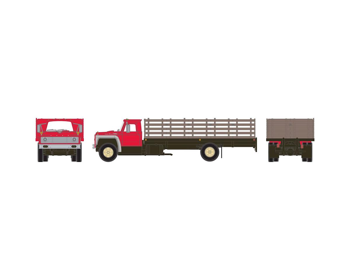 HO RTR Ford F-850 Stakebed Truck, Red w/Primer by Athearn