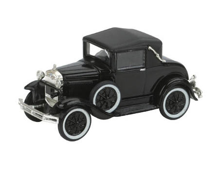 Athearn HO-Scale Model A Sport Coupe (Black)