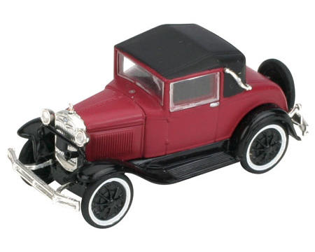 Athearn HO-Scale Model A Sport Coupe (Burgundy)