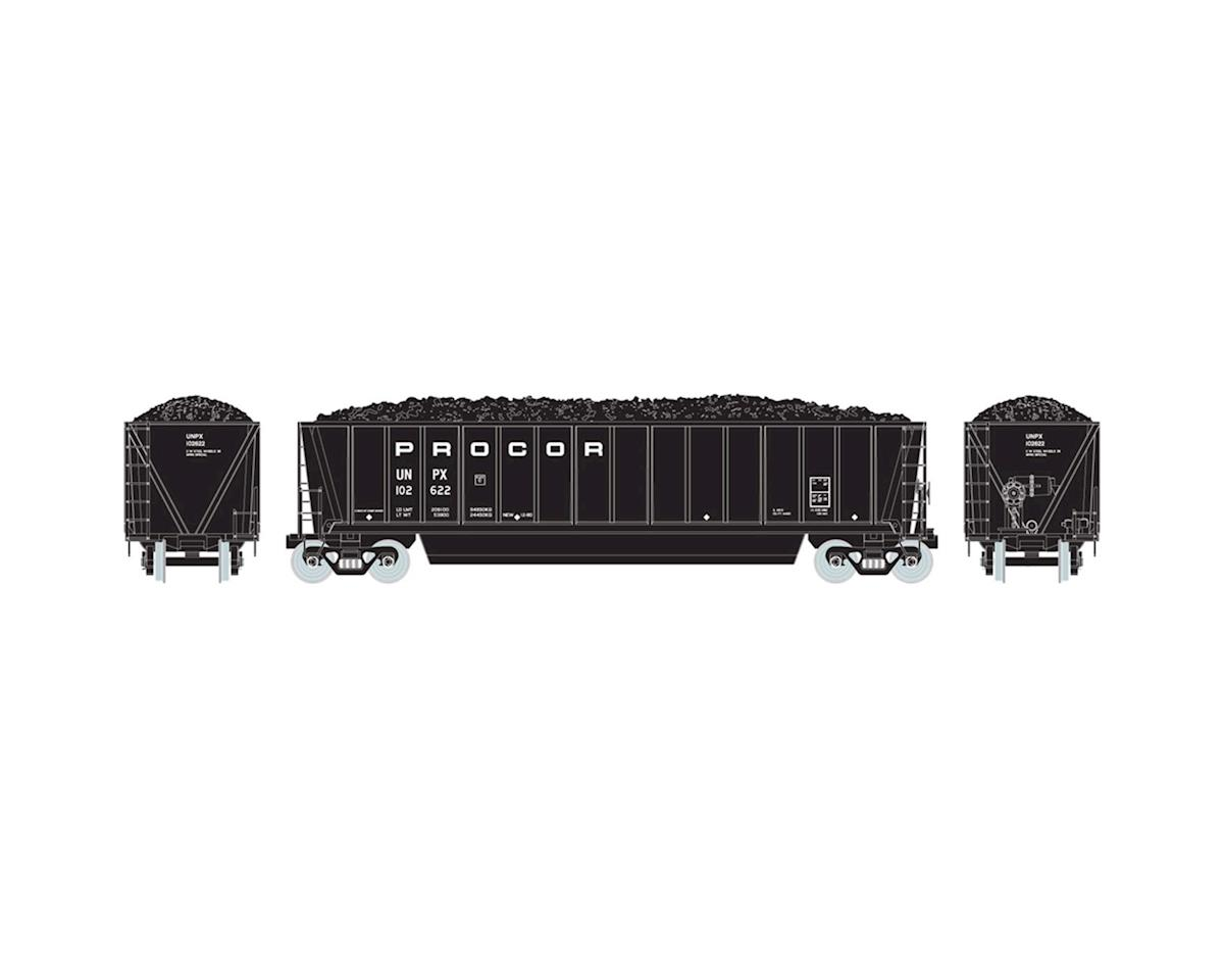 HO RTR Bathtub Gondola w/Coal Load, Procor #102622 by Athearn