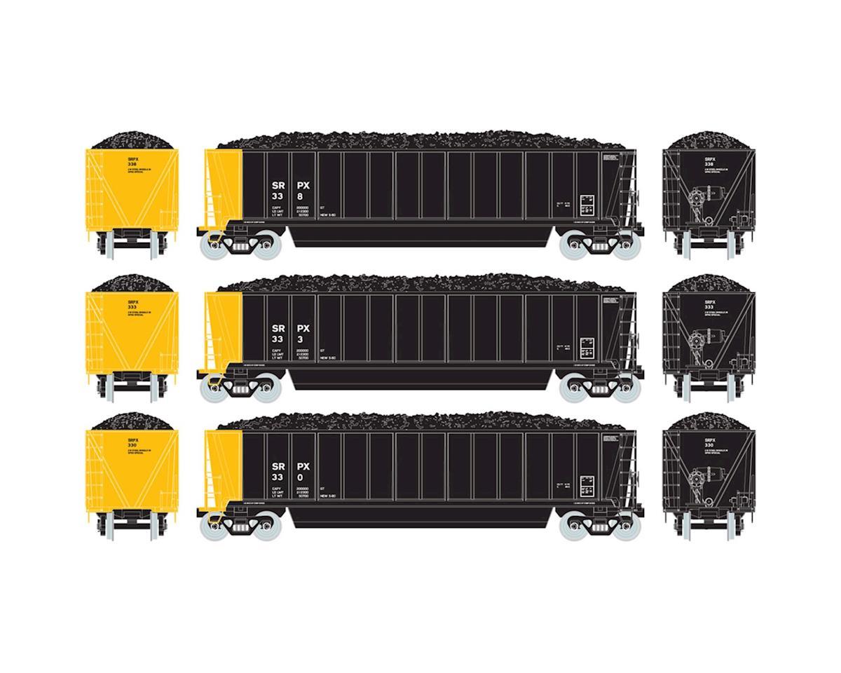 Athearn HO RTR Bathtub Gondola w/Coal Load, SRPX #3 (3)