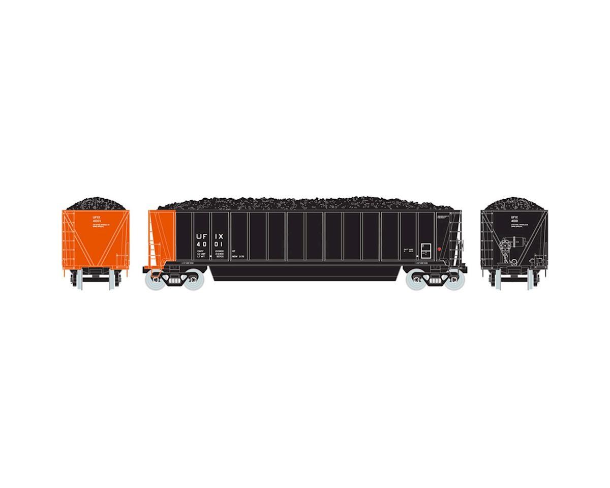 Athearn HO RTR Bathtub Gondola w/Coal Load, UFIX #4001