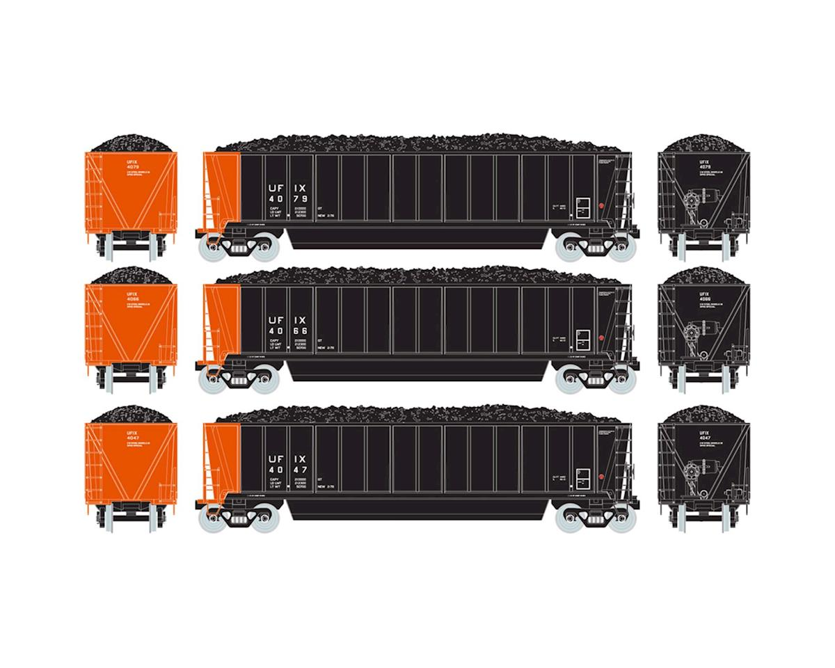 Athearn HO RTR Bathtub Gondola w/Coal Load, UFIX #2 (3)