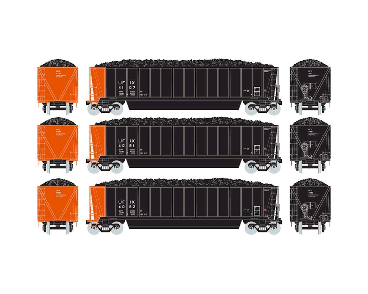 Athearn HO RTR Bathtub Gondola w/Coal Load, UFIX #3 (3)