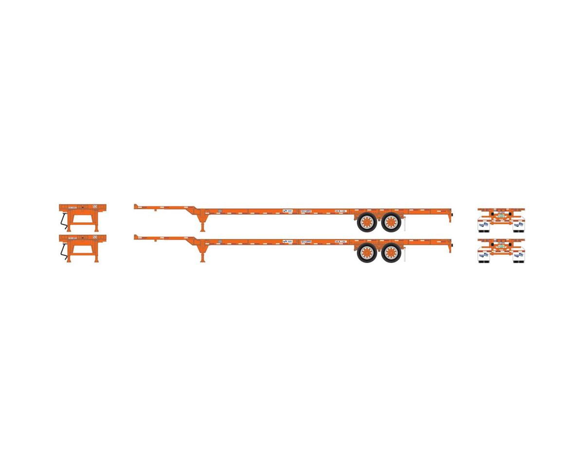 Athearn HO RTR 53' Chassis, Seacastle  (2)