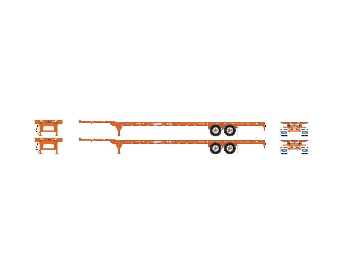Athearn HO RTR 53' Chassis, Trac Intermodal (2)