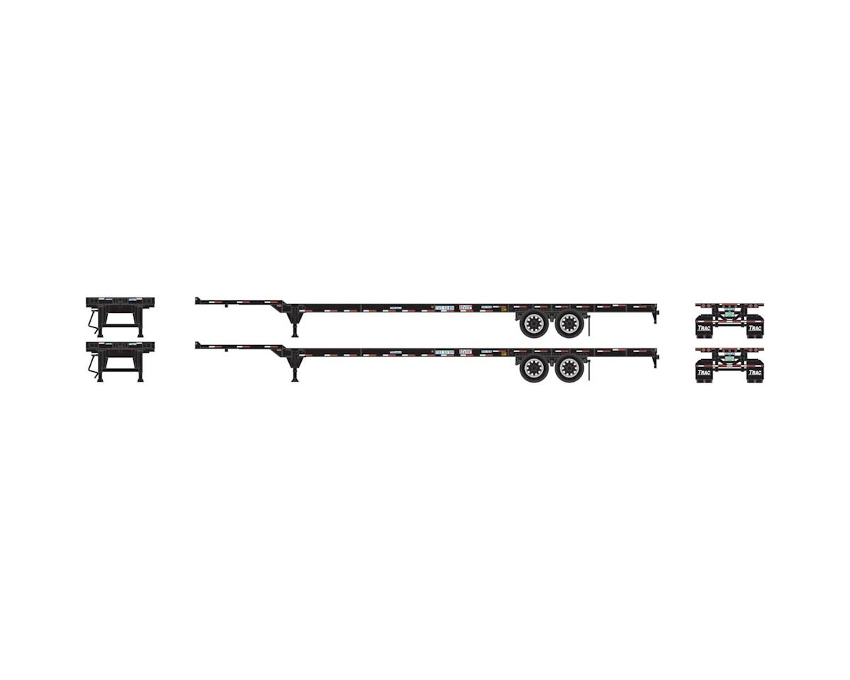 Athearn HO RTR 53' Chassis, Trac Leasing (2)
