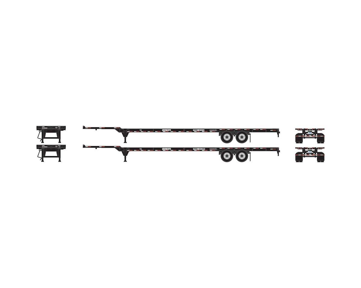 Athearn HO RTR 53' Chassis, Trailer Bridge (2)