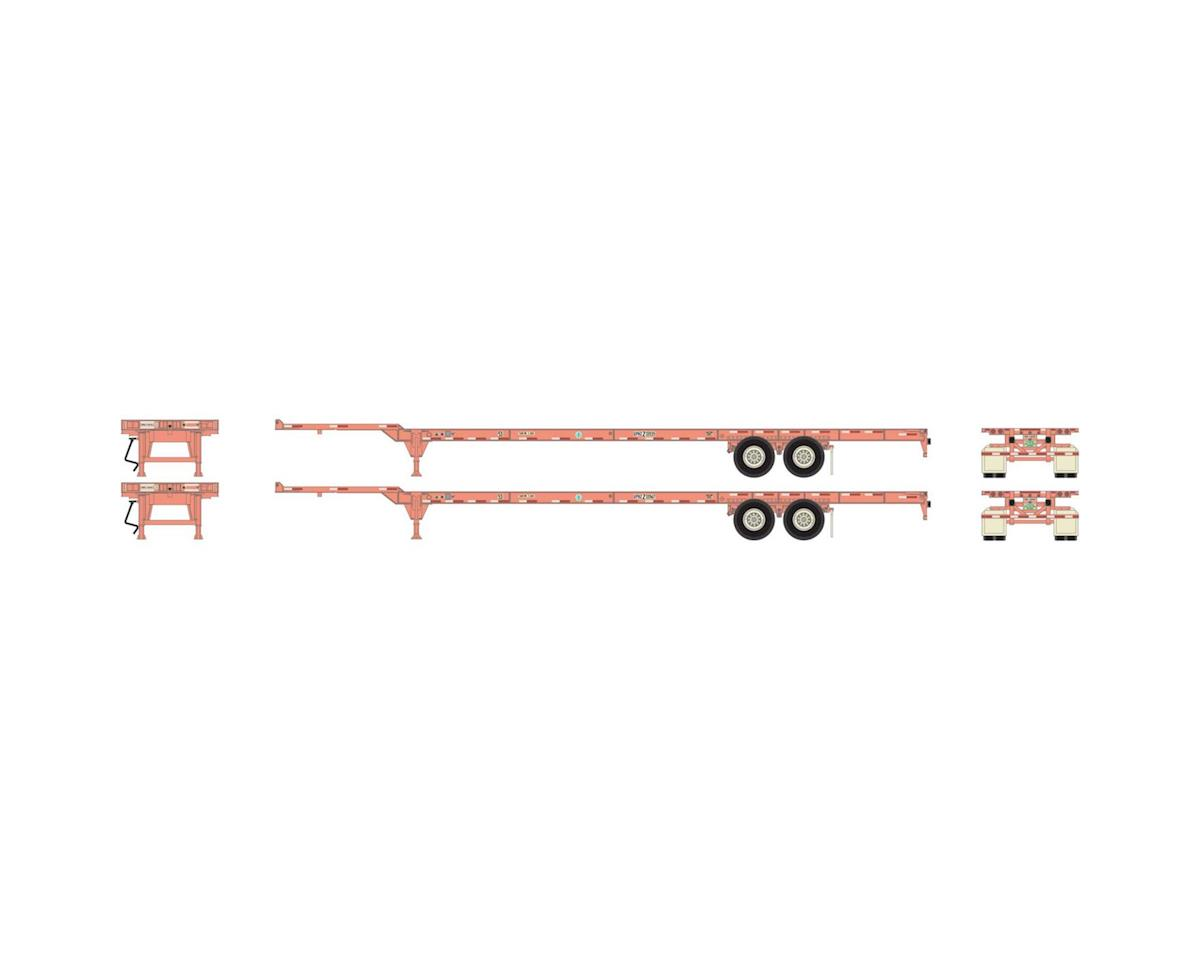 Athearn HO RTR 53' Chassis, Ex-BNSF/UP (2)