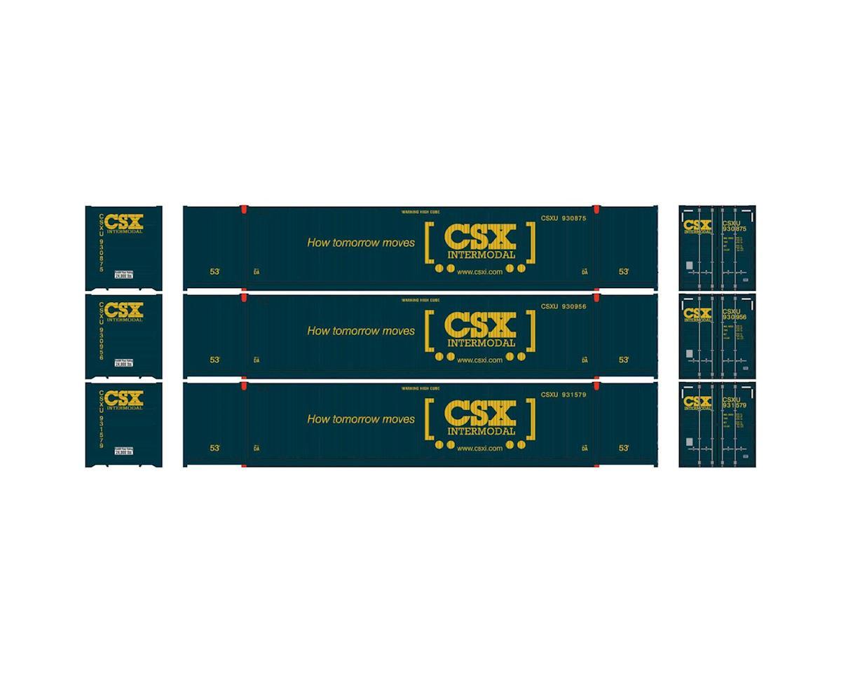 Athearn HO RTR 53' CIMC Container, CSX #2 (3)