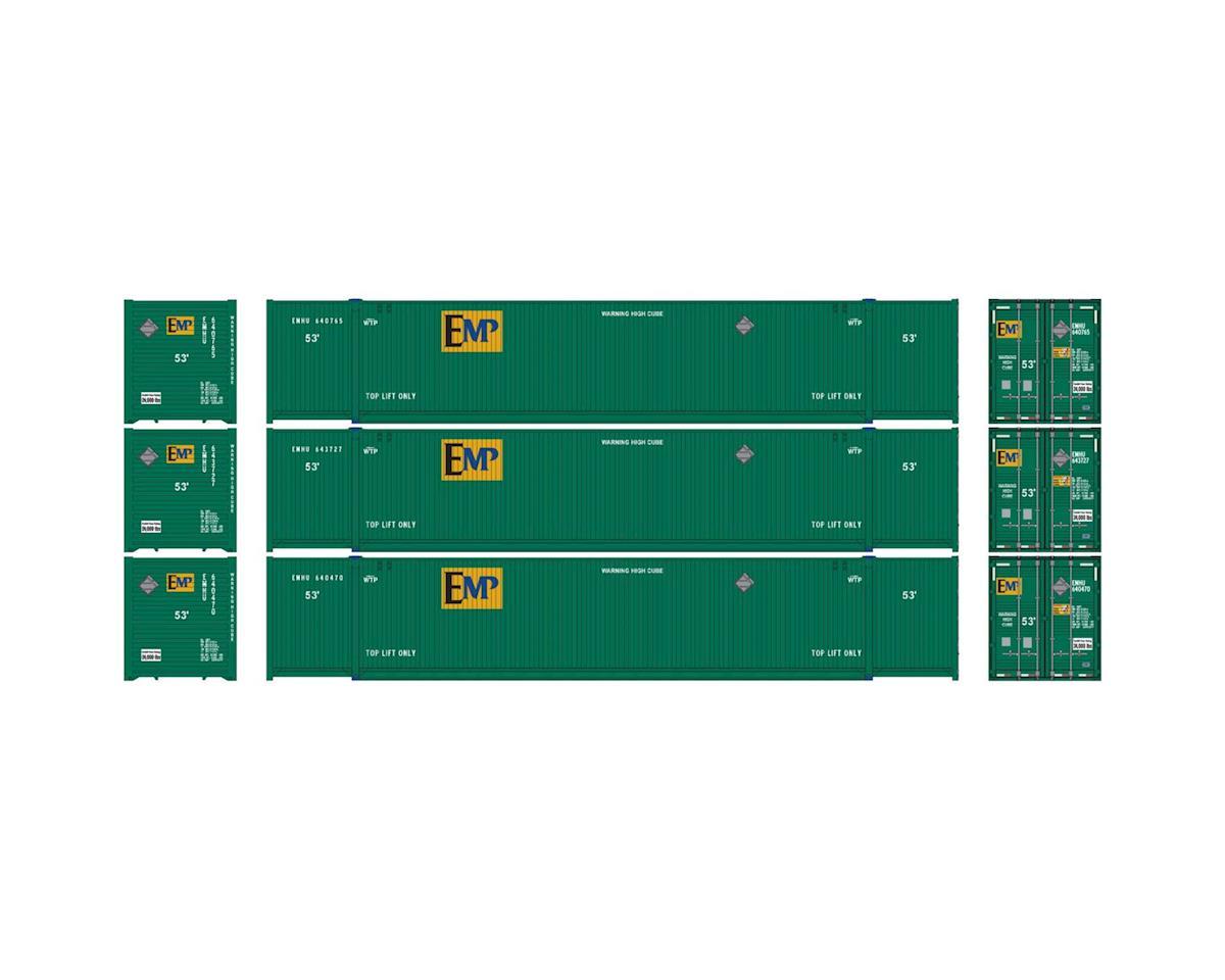 Athearn HO RTR 53' CIMC Container, EMP #2 (3)