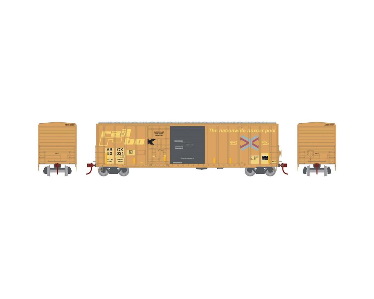 Athearn HO RTR 50' FMC Combo Door Box, Rail Box #50031