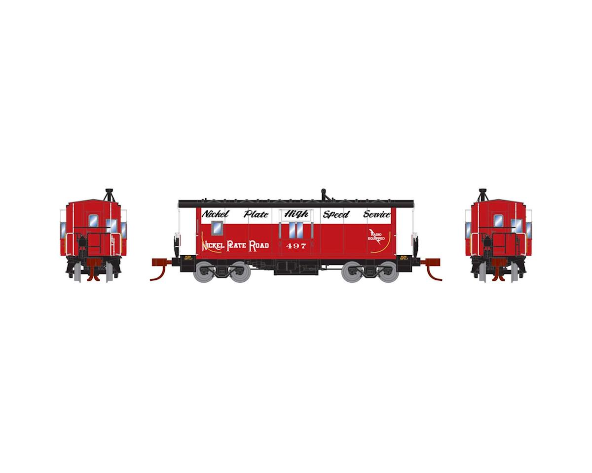 Athearn N Bay Window Caboose, NKP #497