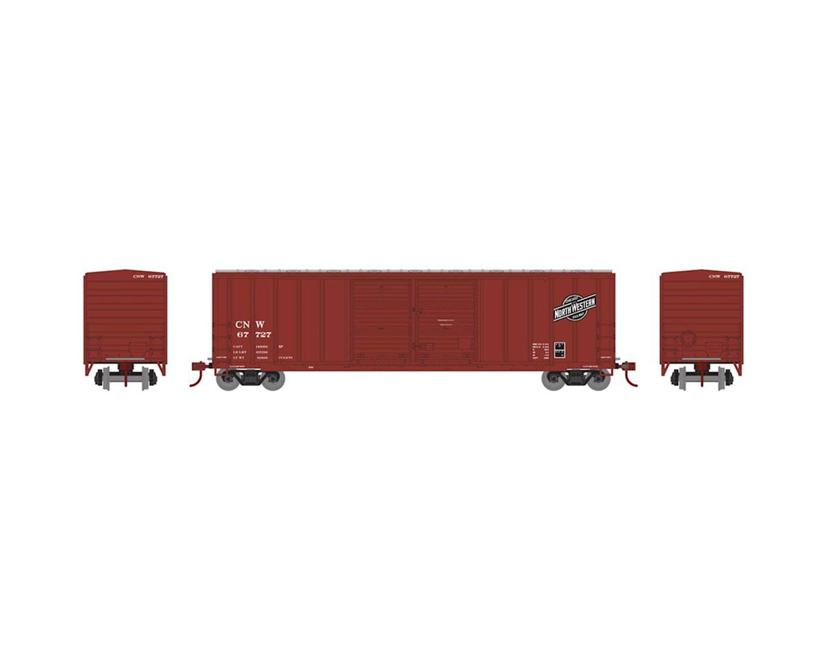 Athearn HO RTR 50' FMC Offset Double Door Box, C&NW #67727