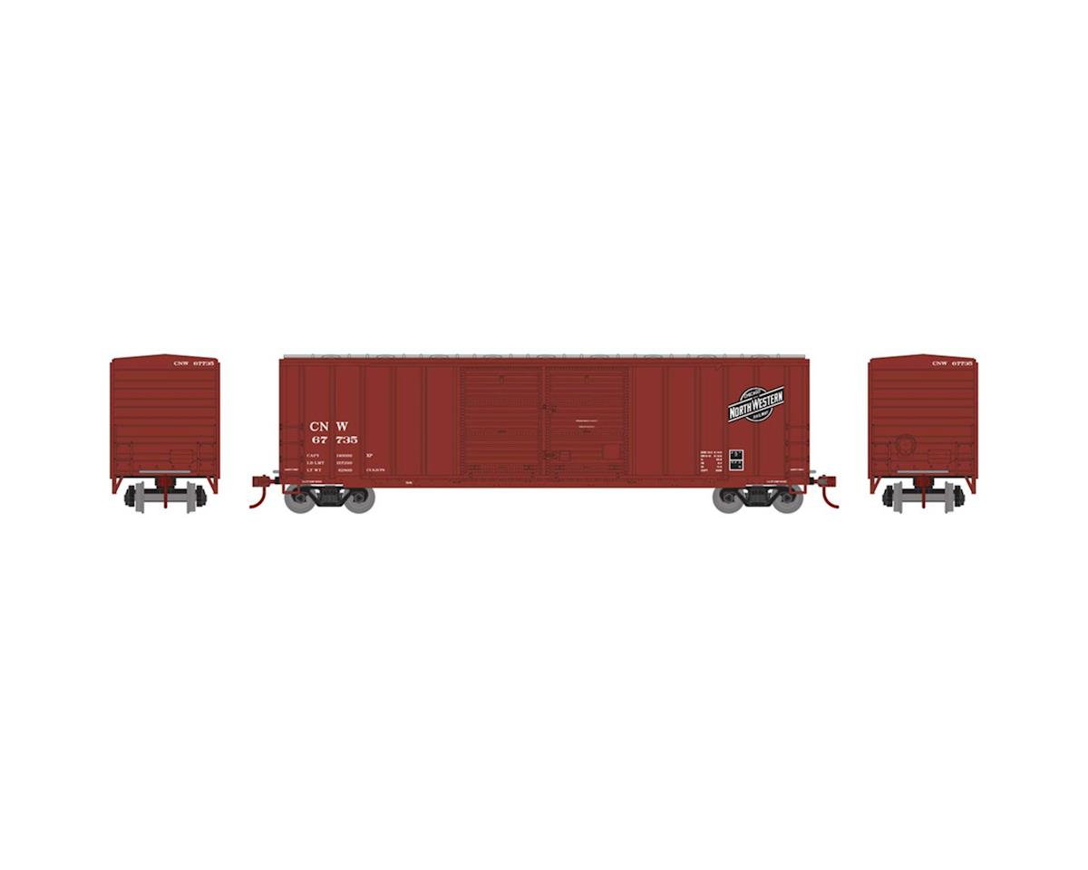 Athearn HO RTR 50' FMC Offset Double Door Box, C&NW #67735