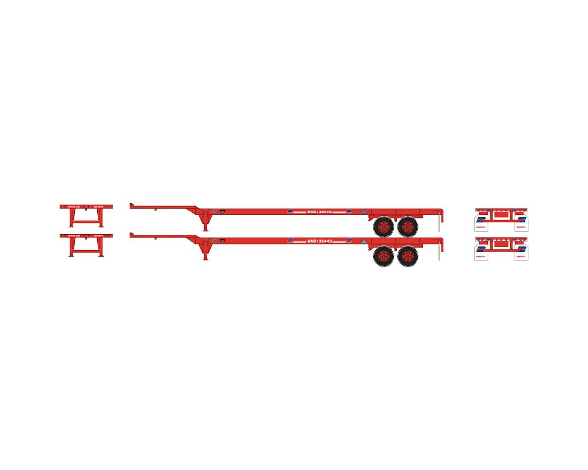 Athearn HO RTR 48' Container Chassis, BN (2)