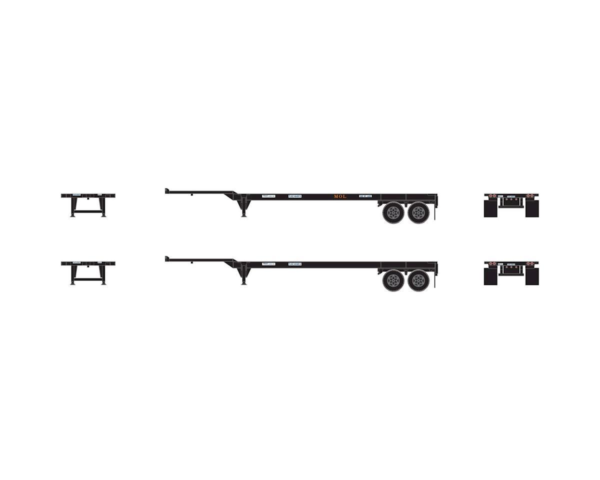 Athearn HO RTR 40' Chassis, MOL (2)