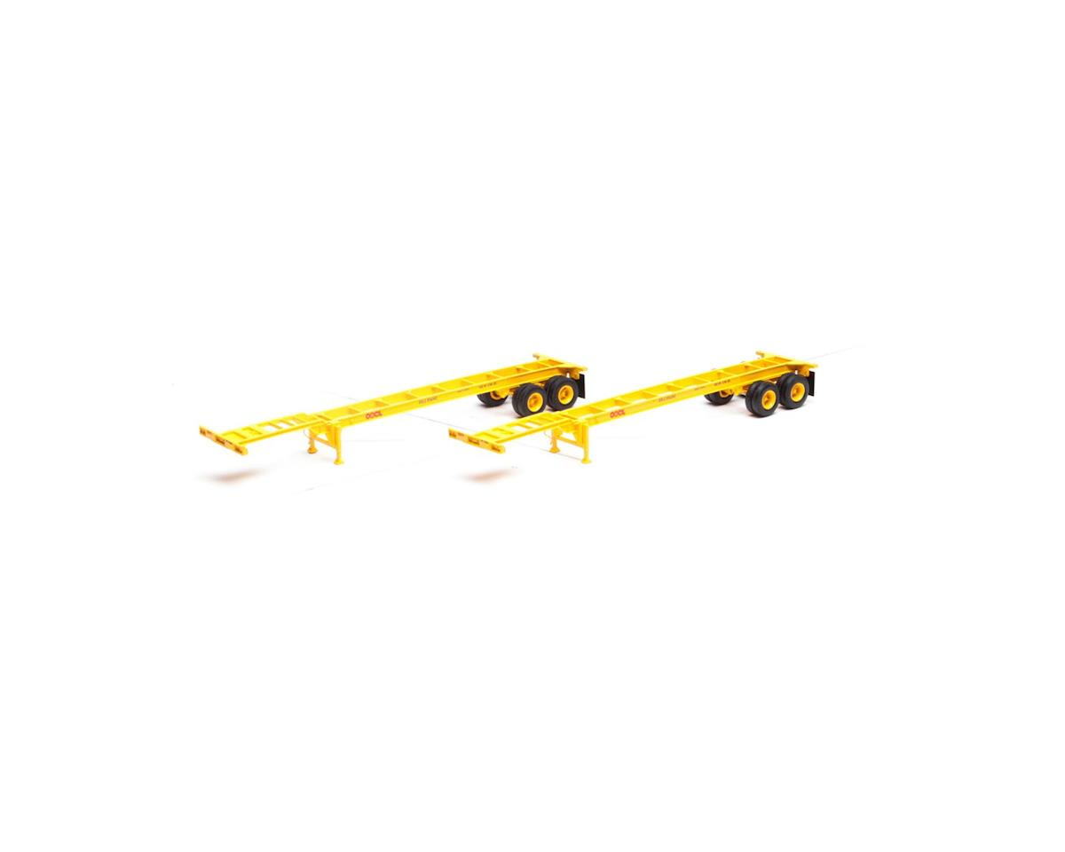 Athearn HO RTR 40' Chassis, OOCL (2)