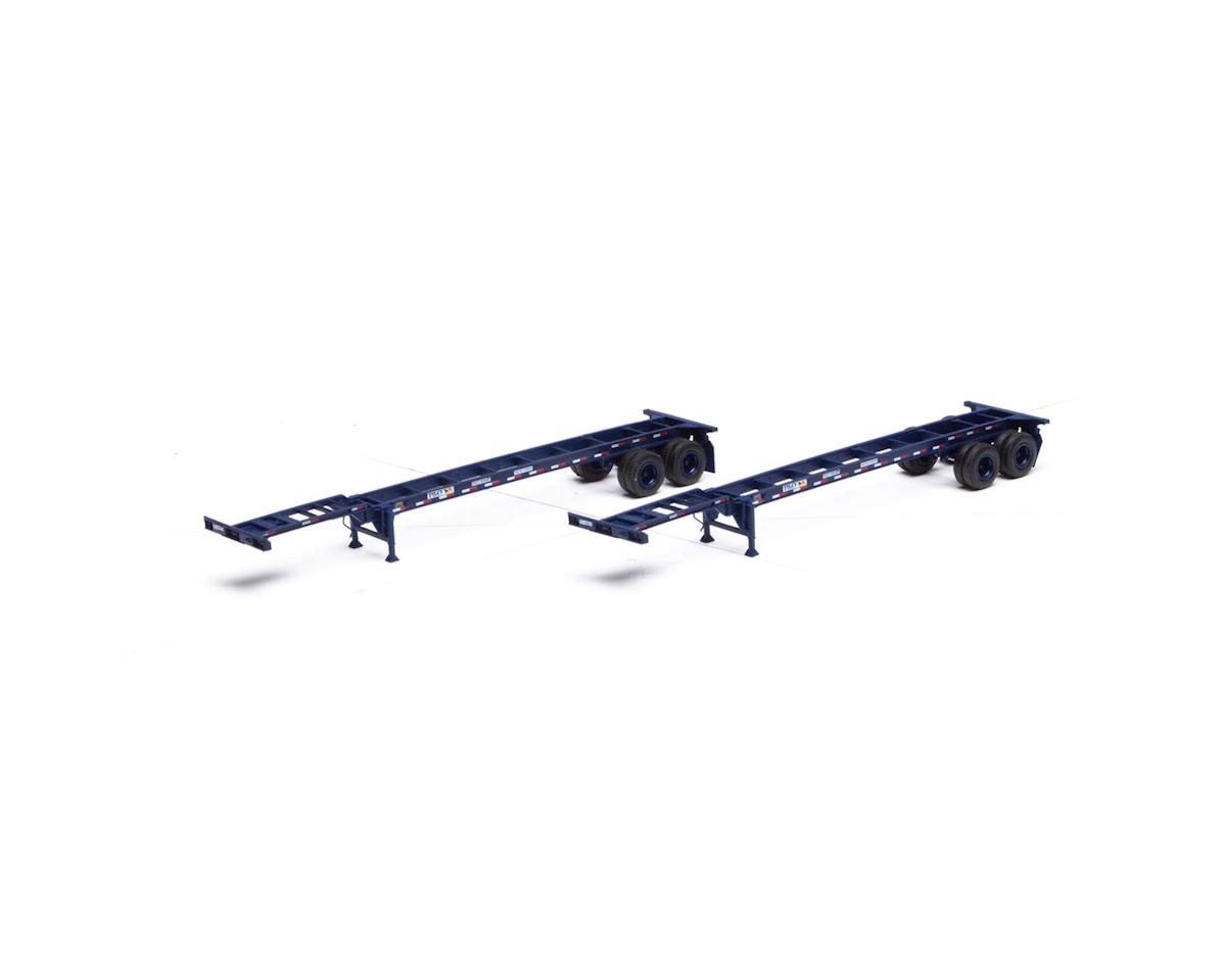 Athearn HO RTR 40' Chassis, P&O (2)