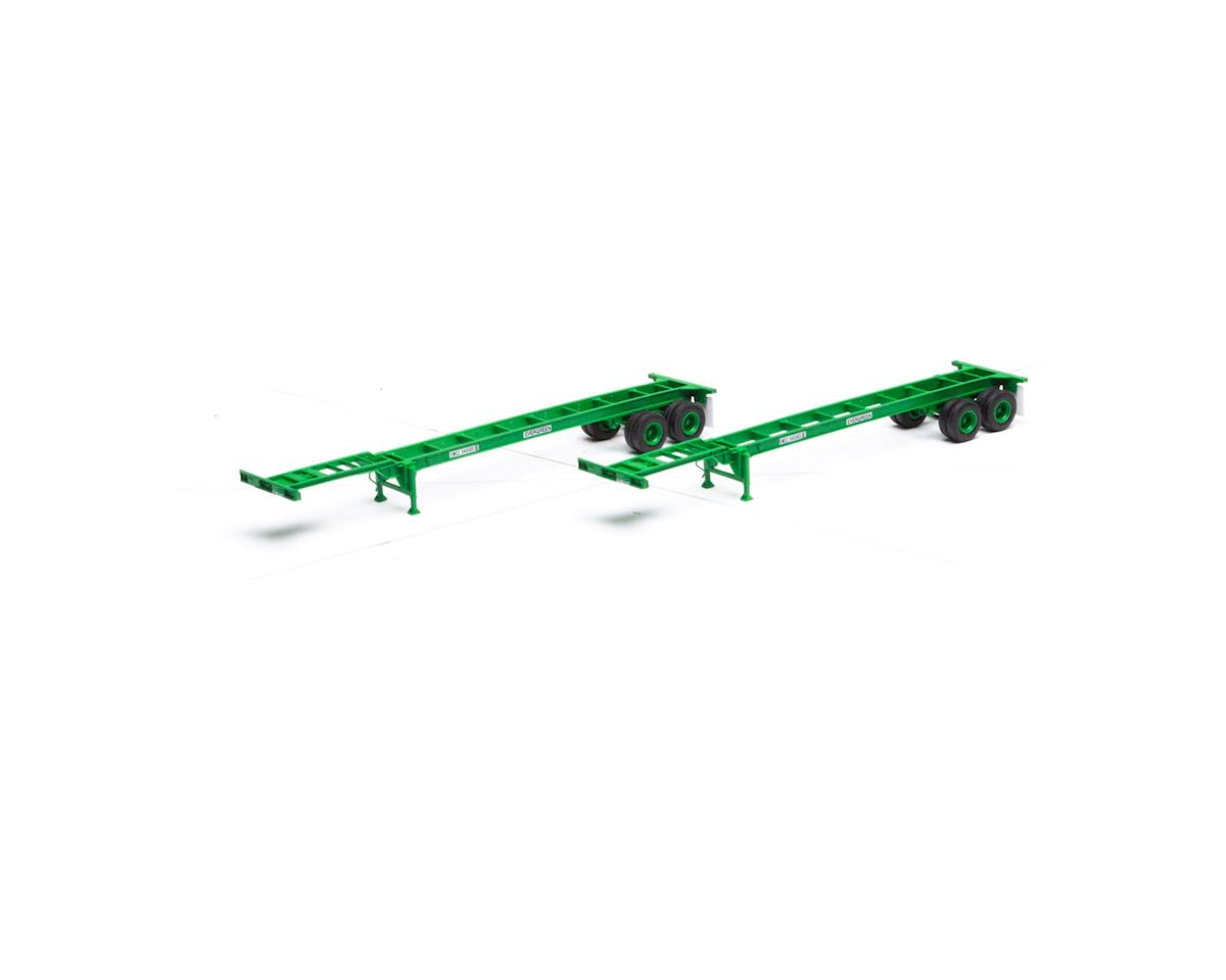 Athearn HO RTR 40' Chassis, Evergreen (2)