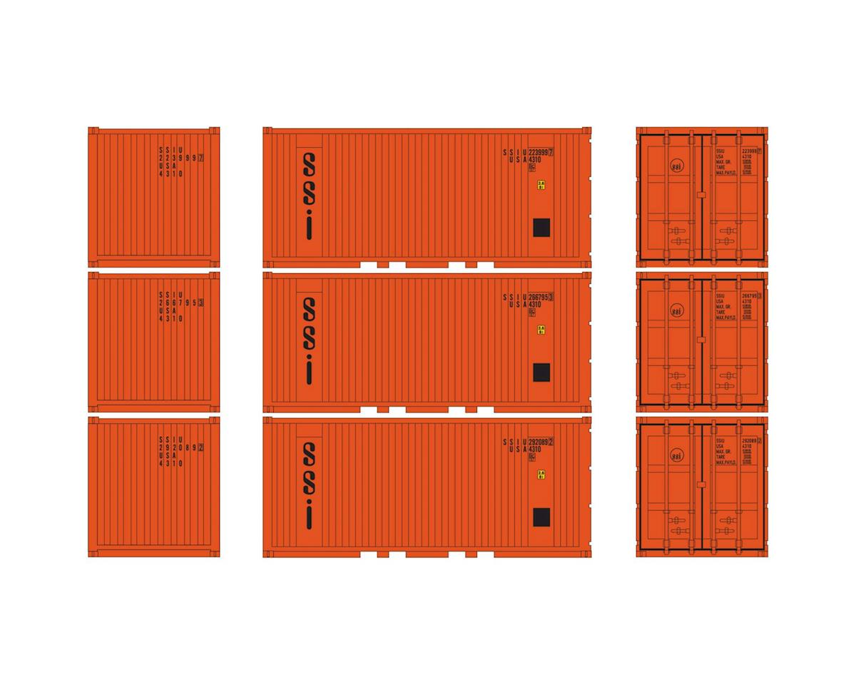 Athearn HO RTR 20' Corrugated Container w/Panel, SSI (3)