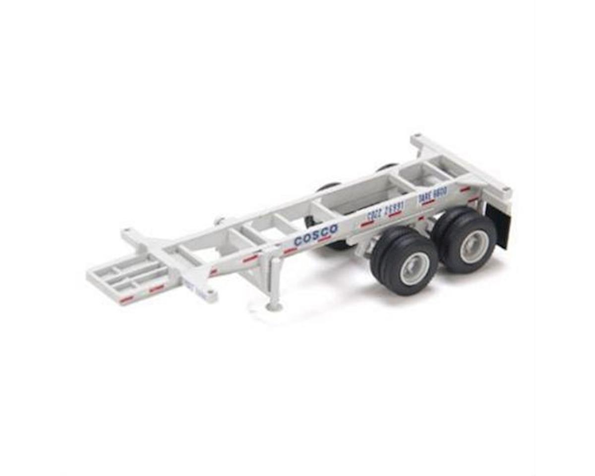 Athearn HO RTR 20' Chassis, COSCO (2)