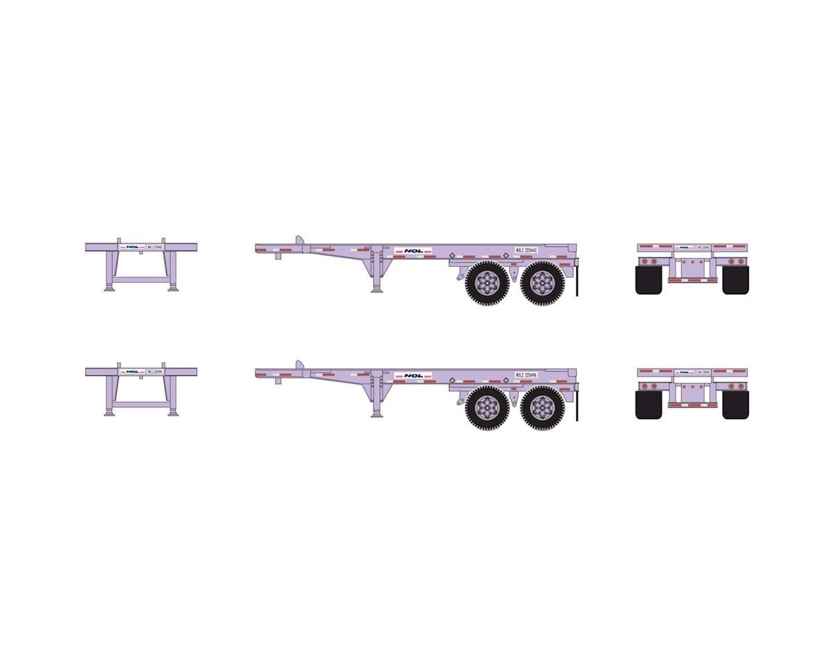 Athearn HO RTR 20' Chassis, NOL (2)