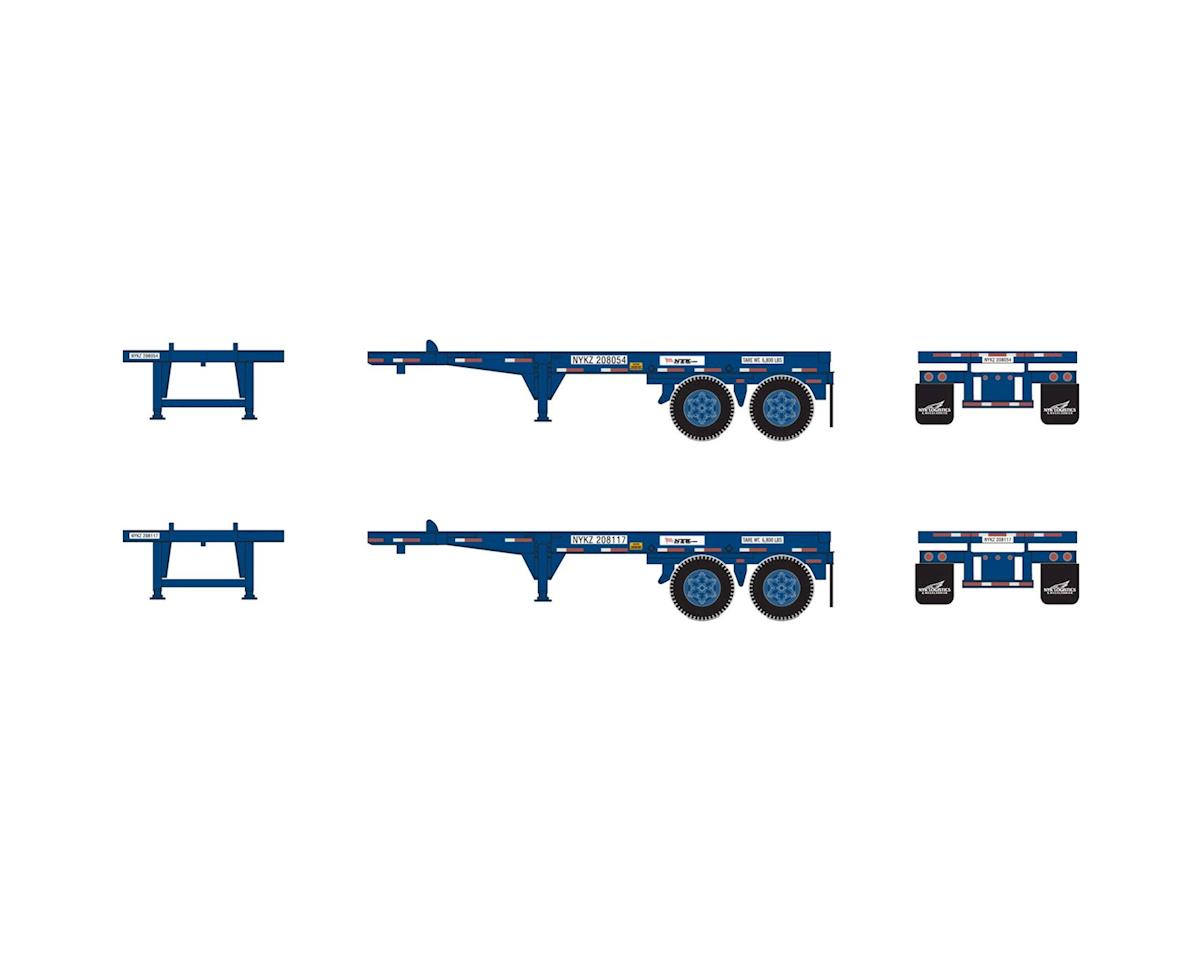 Athearn HO RTR 20' Chassis, NYK (2)