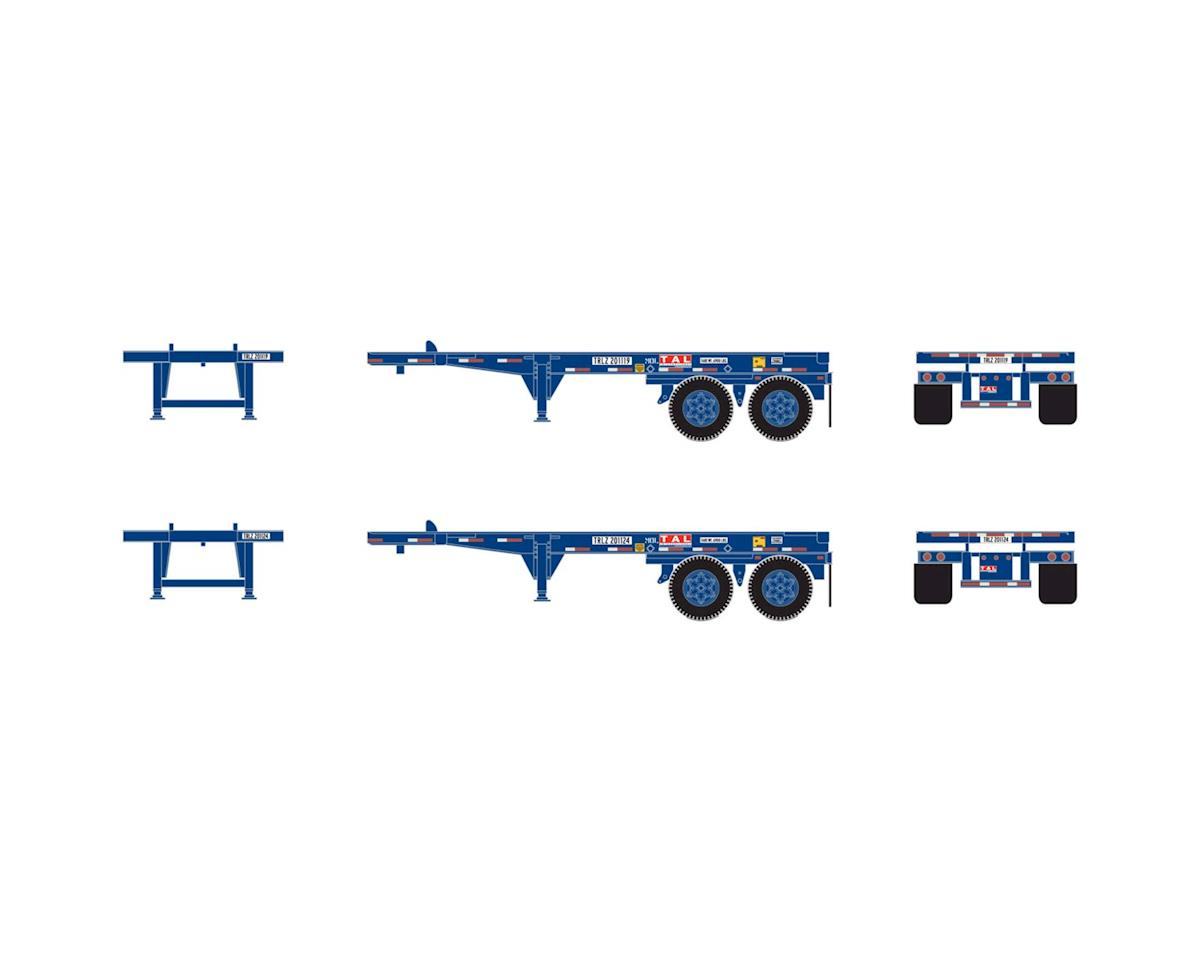Athearn HO RTR 20' Container Chassis, TAL (2)